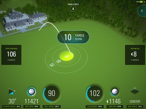 Matt Daniel Indoor golf simulator fun game close to the hole challenge