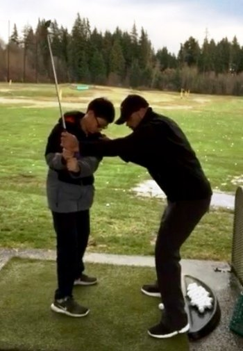 North West Vancouver junior golf lesson at takaya