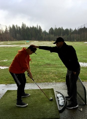North West Vancouver junior golf training at takaya