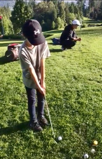 West Vancouver junior golf chipping putting lesson
