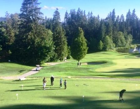 Vancouver junior golf group practice lesson