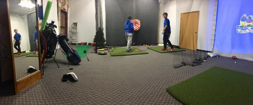 Vancouver junior indoor golf group lesson coaching 温哥华儿童青少年初级高尔夫球团体培训练习课程